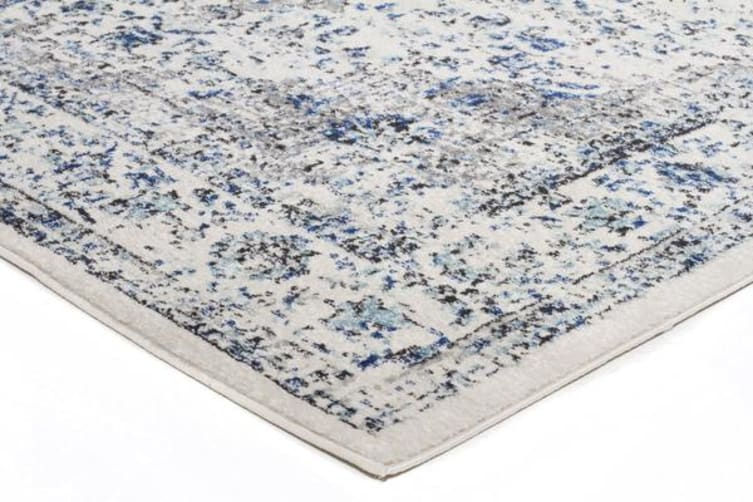 Mist White Transitional Rug 400x80cm