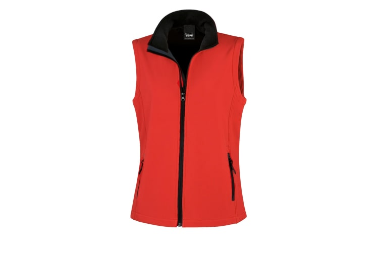 Result Core Womens/Ladies Printable Softshell Bodywarmer (Red / Black) (2XL)