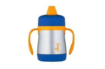 Thermos Foogo 200ml Ss Sippy Cup With Handles Blue