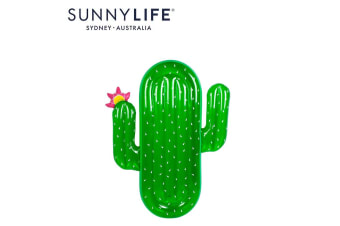 SUNNYLIFE Luxe Lie-On Float Cactus Giant Slice Blow Up Pool Floatie