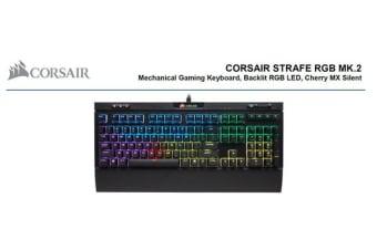 Corsair STRAFE RGB MK2 Cherry MX Silent Mechanical Gaming Keyboard. 2 Years Warranty