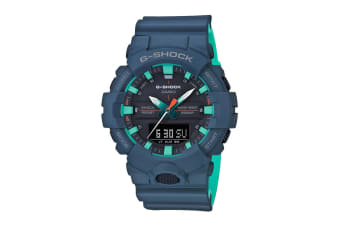 Casio G-Shock Analog Watch with Resin Band - Blue/Teal (GA800CC-2A)