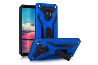 For Samsung Galaxy S9 Case  Armour Strong Shockproof Tough Cover Kickstand  Blue
