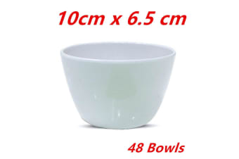 48 x Melamine Round Bowl Event Party Dinner Glossy White Cafe Snack Sauce Small Dish