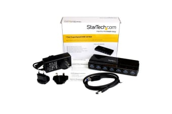 StarTech.com 7 port USB 3.0 hub - desktop