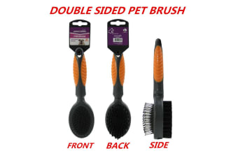 Double Sided Pet Brush Dog Cat Rabbit Puppy Hair Grooming Fur Shedding Comb Tool