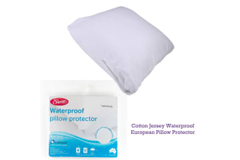 Cotton Jersey Waterproof European Pillow Protector by Easyrest