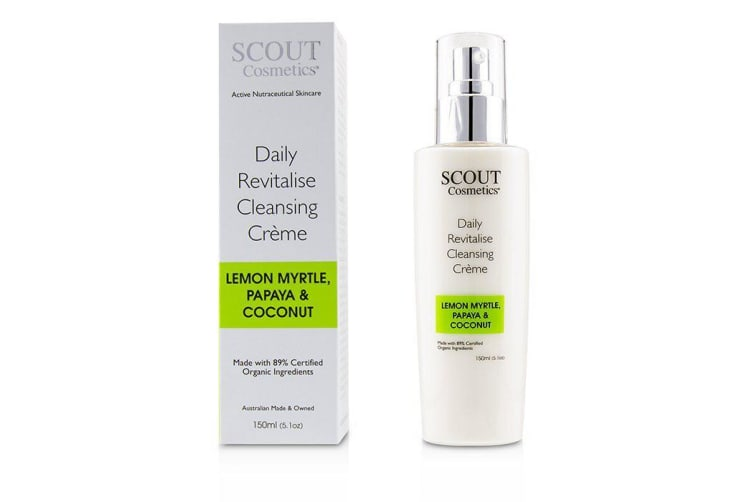 SCOUT Cosmetics Daily Revitalise Cleansing Creme with Lemon Myrtle, Papaya & Coconut 150ml/5.1oz