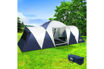 Camping Tent 12 Person Hiking Beach Tents Canvas Swag Family