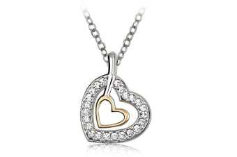 Heart In Heart Necklace Embellished with Swarovski crystals
