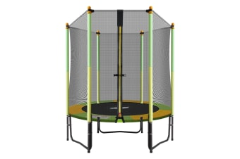 "Genki 55"" Round Outdoor Indoor Mini Trampoline with Safety Enclosure 80KG"