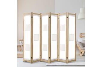 Artiss 6 Panel Room Divider Screen Privacy Dividers Fabric Foldable Stand White