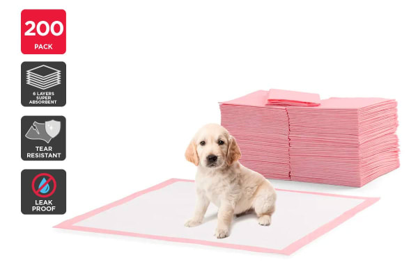 Pawever Pet 200 Pack Pets Puppy Training Pads (Pink)