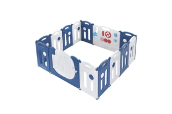 14-Panel Elephant Design Baby Toddler Safety Gate Playpen