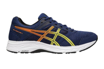 ASICS Men's Gel-Contend 5 Running Shoe (Blue Expanse/Sour Yuzu, Size 10.5 US)