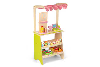 Wooden Kids Pretend Play Grocery Marketplace