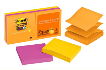 Post-it Super Sticky Pop-up Notes Rio de Janeiro Collection (76mm x 76mm)