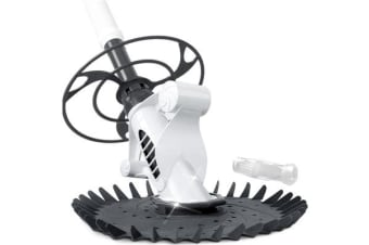 Aquabuddy Swimming Floor Vacuum Pool Cleaner with 10M Hose White Grey