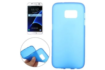 For Samsung Galaxy S7 Back Case  Slim Frosted Shielding Cover Blue
