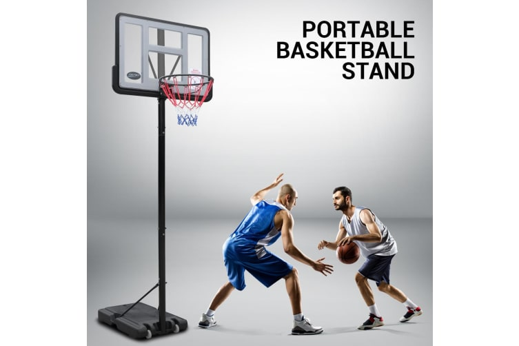 1.5-3.05M Portable Basketball Hoop Backboard System Stand Net Ring Set