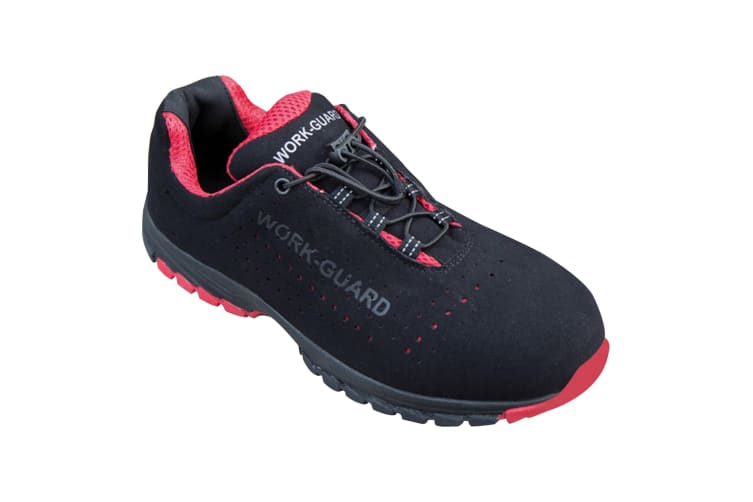 Result Workguard Mens Shield Safety Trainers (Black/Red) (8 UK)