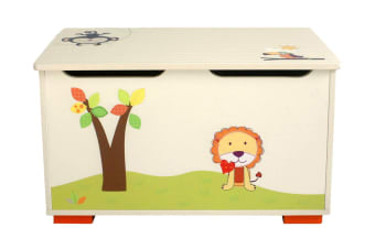 Wooden Toy Box with Graphics (TB279)