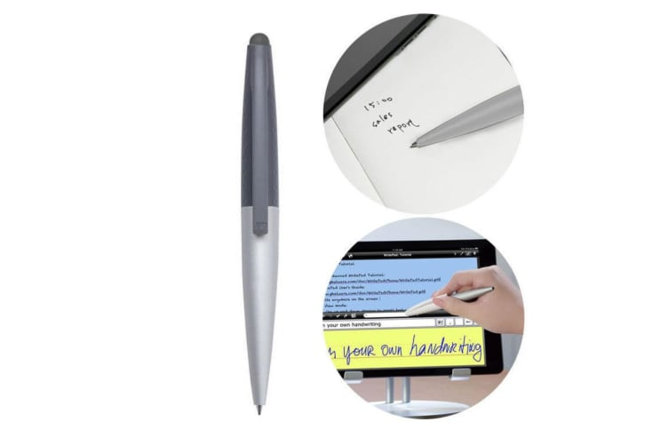 Just Mobile AluPen Twist S Dual Ink/Stylus Pen for iPad/Tablet/Smartphones/Paper