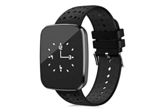 "Bluetooth V4.0 Smart Watch Heart Rate Blood Pressure Ip67 0.96"" Oled - Black"