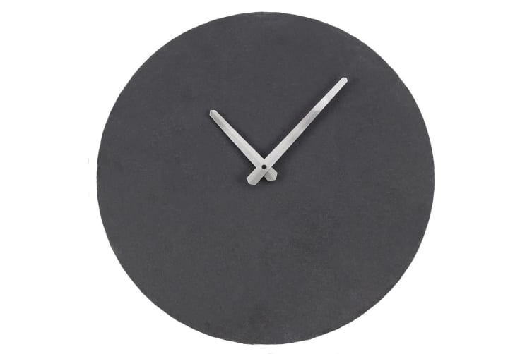 Slate Clock (Grey) (One Size)