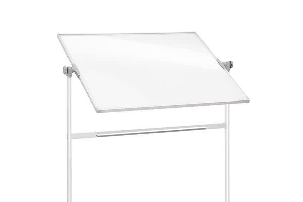 Mobile Whiteboard Free Stand Double Sided Magnetic Aluminum Frame 180x120cm