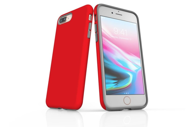 Red For iPhone 8 Plus Tough Case  Protective Back Cover