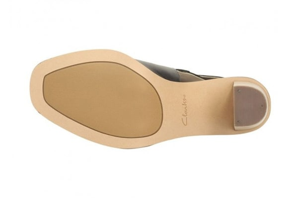Clarks Women's Image Jewel Sandal (Black Leather, Size 6.5 US)