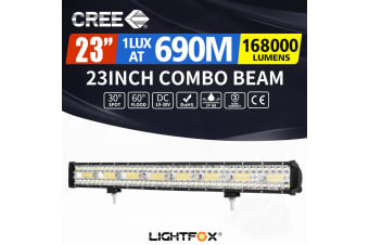 LIGHTFOX 23inch CREE LED Light Bar Spot Flood Driving Lamp Offroad 4WD SUV Truck