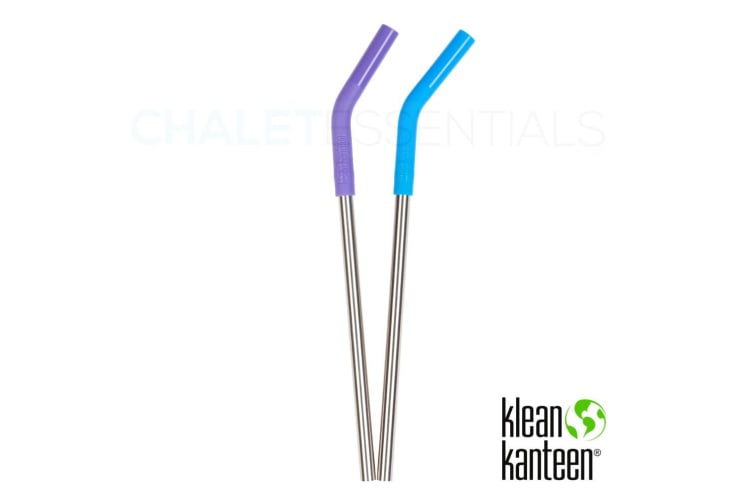 KLEAN KANTEEN 2 Pack Steel Straw Set COLOUR 6130 | Pints & Tumblers | 8mm