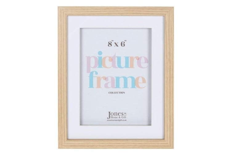 Light Wood Effect Box Frame (Brown) (8 x 6inch)
