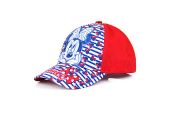 Minnie Mouse Childrens/Girls Stripe Baseball Cap (Red)
