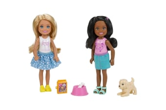 Barbie Chelsea and Friend Doll Set with Pet - 2-Pack