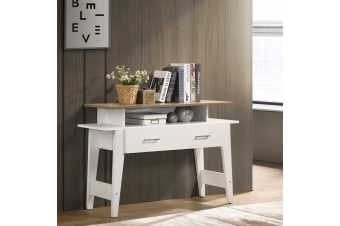 Console Table with Drawers Hallway Oak