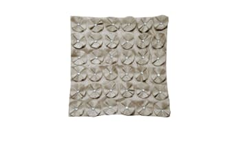 Chelsea Taupe Square Cushion Cover by Metropolitan
