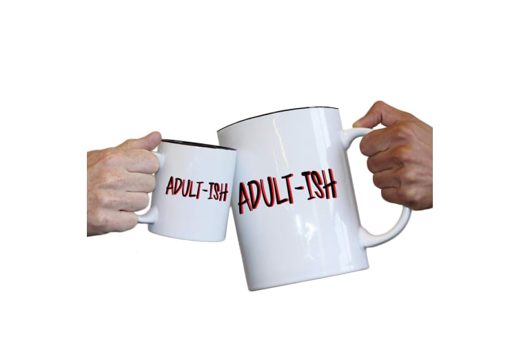 123T Novelty Funny Giant 2 Litre Mugs - Adultish Funny