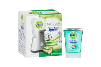 Dettol 250ml No-Touch/Auto Hand Wash Dispenser Aloe Vera & Cucumber/Melon Soap