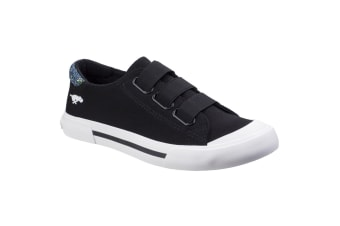 Rocket Dog Womens/Ladies Jamaica Canvas Slip On Trainer (Black)