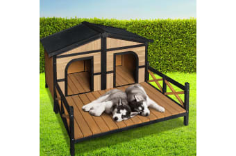 i.Pet Dog Kennel Kennels Outdoor Wooden Pet House Puppy Extra Large XXL