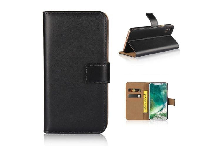 pretty nice 90cf2 03905 For iPhone XR Wallet Case Elegant Slim Leather Cover Card Holder Black