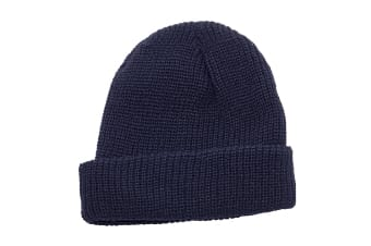 Regatta Unisex Fully Ribbed Winter Watch Cap / Hat (Navy)
