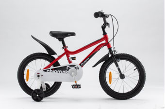 Chipmunk RoyalBaby 18'' Kids Bike for Girls and Boys 18 inch Kid's Bikes incl Training Wheels and Kickstand Red Colour
