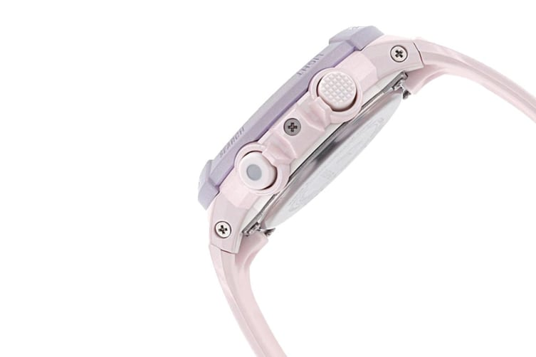 Casio Baby-G Analog Digital Female Watch with Resin Band - Pink/Purple (BGS100SC-4A)
