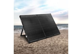 12V 250W Folding Solar Panel Kit Generator Caravan Boat Camping Power Charge