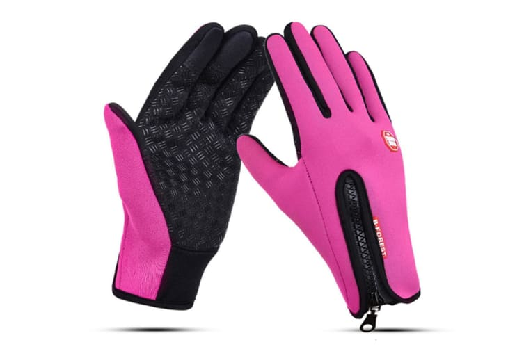 Outdoor Sport Gloves For Men And Women Skiing With Cold-Proof Touch Screen - 3 Red L