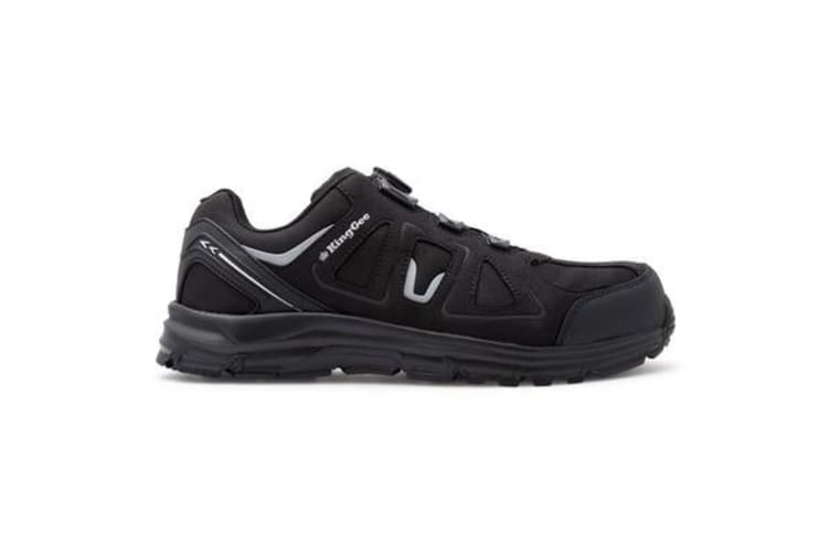 King Gee Comp-Tec BOA Work Shoes (Black, Size 8)